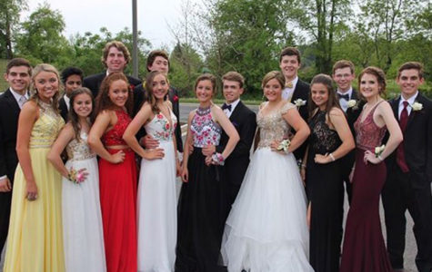 Prom Group Smiling for the Cameras