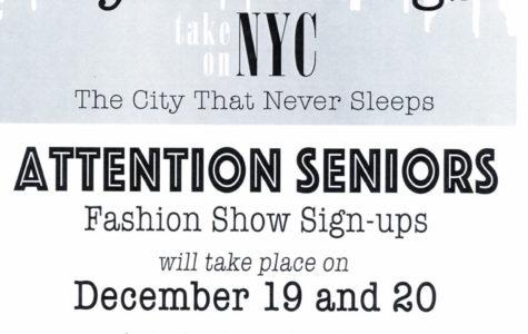 Seniors Needed for Fashion Show
