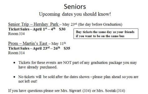 Senior Class Reminders